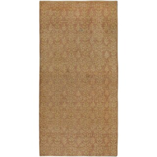 Ccarpetgallery Anatolian Sunwash Pink Wool and Cotton Hand-knotted Oriental Runner Rug (2'11 x 5'8)
