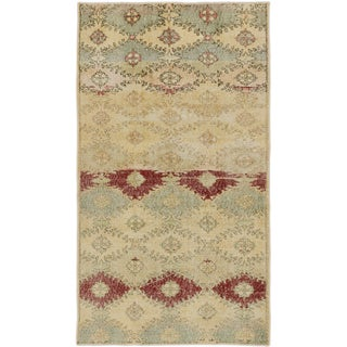 eCarpetGallery Anatolian Sunwash Blue/Ivory Wool and Cotton Hand-knotted Oriental Area Rug (3'4 x 5'11)
