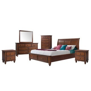 Copper Grove Dannemora Picket House Furnishings Channing King Storage 6PC Bedroom Set