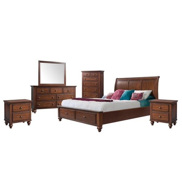 Copper Grove Dannemora Picket House Furnishings Channing King Storage 6-piece Bedroom Set