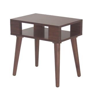 INK+IVY Jayce Pecan Mid Century Wood Side Table