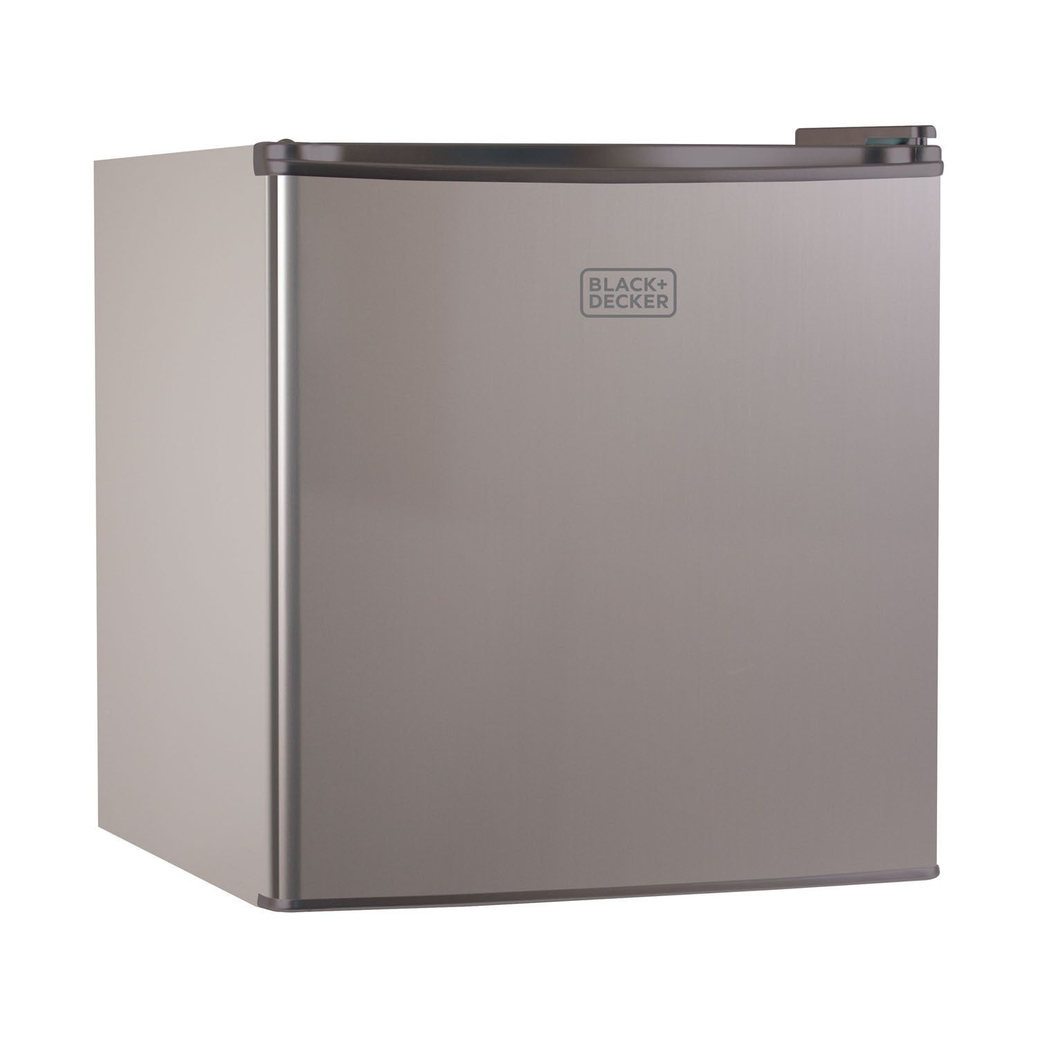 Cool Black and Decker 1.7 cu ft. Compact Fridge, Silver