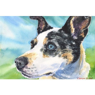 Marmont Hill - 'Australian Cattle Dog' by George Dyachenko Painting Print on Wrapped Canvas