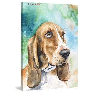 Marmont Hill - 'Basset 1' by George Dyachenko Painting Print on Wrapped Canvas