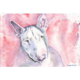 Marmont Hill - 'Bull Terrier' by George Dyachenko Painting Print on Wrapped Canvas