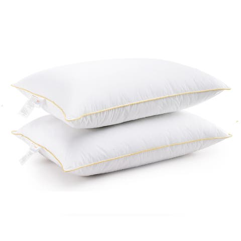 Cheer Collection Hypoallergenic Hollow Fiber Gel Pillows (Set of 2) - White