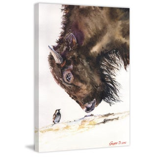 Marmont Hill - 'Buffalo and Sparrow' by George Dyachenko Painting Print on Wrapped Canvas