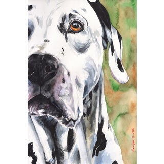 Marmont Hill - 'Dalmatian' by George Dyachenko Painting Print on Wrapped Canvas