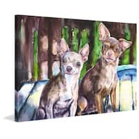 Marmont Hill - 'Chihuahuas' by George Dyachenko Painting Print on Wrapped Canvas - Multi-color