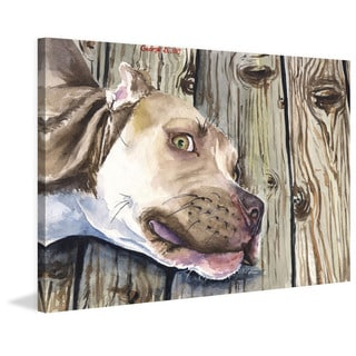 Marmont Hill - 'Pitbull' by George Dyachenko Painting Print on Wrapped Canvas