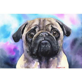 Marmont Hill - 'Pug' by George Dyachenko Painting Print on Wrapped Canvas