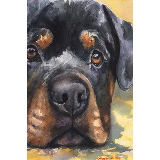 Marmont Hill - 'Rottweiler' by George Dyachenko Painting Print on Wrapped Canvas
