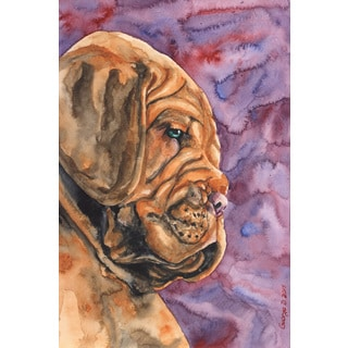 Marmont Hill - 'Dogue De Bordeaux Puppy' by George Dyachenko Painting Print on Wrapped Canvas