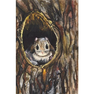 Marmont Hill - 'Squirrel' by George Dyachenko Painting Print on Wrapped Canvas