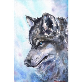 Marmont Hill - 'Wolf' by George Dyachenko Painting Print on Wrapped Canvas