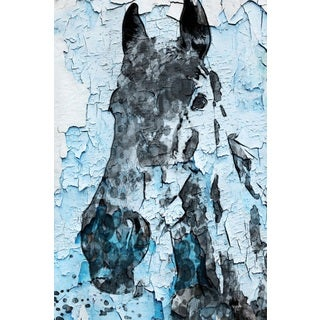 Marmont Hill - 'Night Song Horse' by Irena Orlov Painting Print on Wrapped Canvas