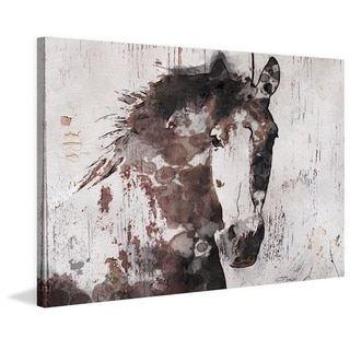 Marmont Hill - 'Gorgeous Horse' by Irena Orlov Painting Print on Wrapped Canvas
