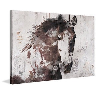 Marmont Hill - 'Gorgeous Horse' by Irena Orlov Painting Print on Wrapped Canvas - Brown
