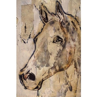 Marmont Hill - 'Winner Horse' by Irena Orlov Painting Print on Wrapped Canvas