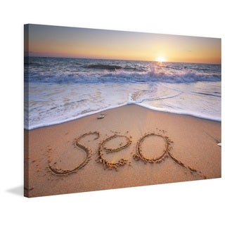 Marmont Hill - 'Sea Shore' Painting Print on Wrapped Canvas