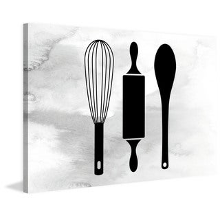 Marmont Hill - 'Baking Utensils' by Diana Alcala Painting Print on Wrapped Canvas