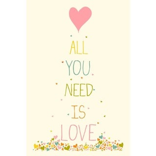 Marmont Hill - 'All You Need Heart' by Karen Zukowski Painting Print on Wrapped Canvas