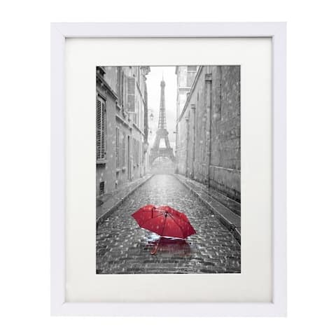 Americanflat 11 x 14-inch White Wall Picture Frame with Glass for 8 x 10-inch with Mat or 11 x 14-inch without Mat