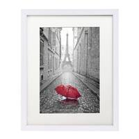 11 x 14-inch White Wall Picture Frame with Glass for 8 x 10-inch Pictures with Mat or 11 x 14-inch Pictures Without Mat