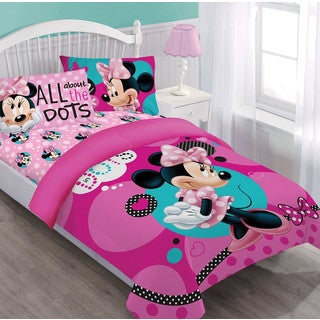 Disney Minnie Dreaming in Dots 4-piece Bed in a Bag Set