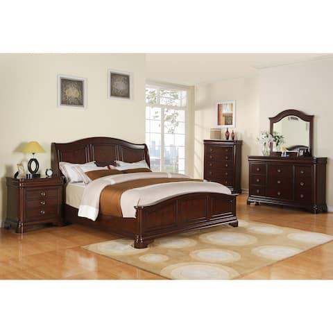 Gracewood Hollow Bujalski Cherry Queen Panel 6-piece Bedroom Set