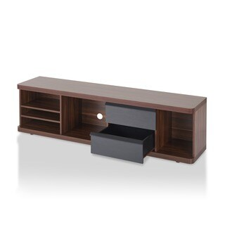 Furniture of America Ember Transitional Two-Tone Multi-storage 70-inch TV Stand