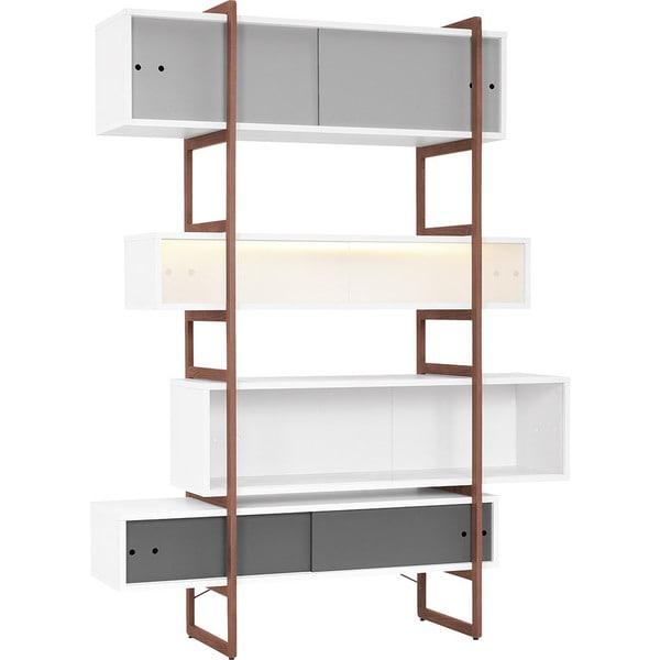 Decorative Boxes For Bookshelf : Voelkel mio collection decorative box shelf bookcase on