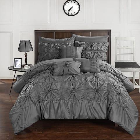 Gracewood Hollow Redshirt Charcoal 10-piece Bed in a Bag Comforter Set