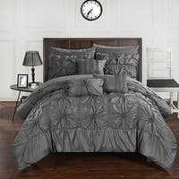 Gracewood Hollow Redshirt Charcoal 10-piece Bed in a Bag Comforter Set