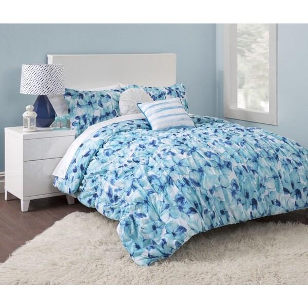 Seventeen Cerulean Floral 5-piece Comforter Set