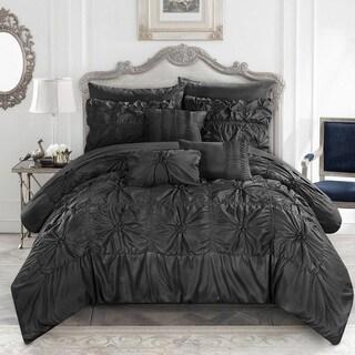Gracewood Hollow Redshirt Black 10-piece Bed in a Bag Comforter Set