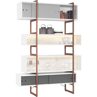 Voelkel Mio Collection Ladder-style Support Frame for Tall Mio Bookcase (Frame Only)