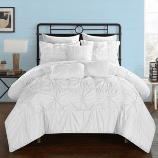 Chic Home 10-Piece Grantfield Bed-In-A-Bag White Comforter Set