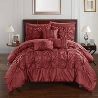Chic Home 10-Piece Grantfield Bed-In-A-Bag Brick Comforter Set