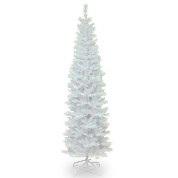 White 4 Foot Christmas Tree: Shop White Iridescent Tinsel 6-foot Tree