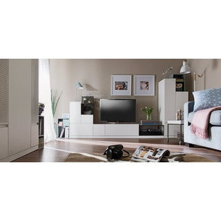 Voelkel Muto Collection Grey Metal TV Console Frame