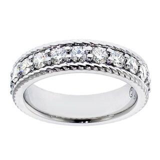 14k/18k White Gold 1ct TDW Prong-set Diamond Anniversary Wedding Band (G-H, SI1-SI2)