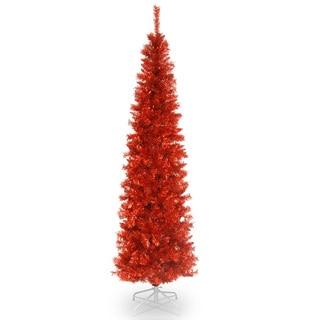 Red 6-foot Tinsel Tree