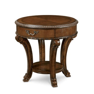 A.R.T. Furniture Old World Brown Wood Old World Round End Table