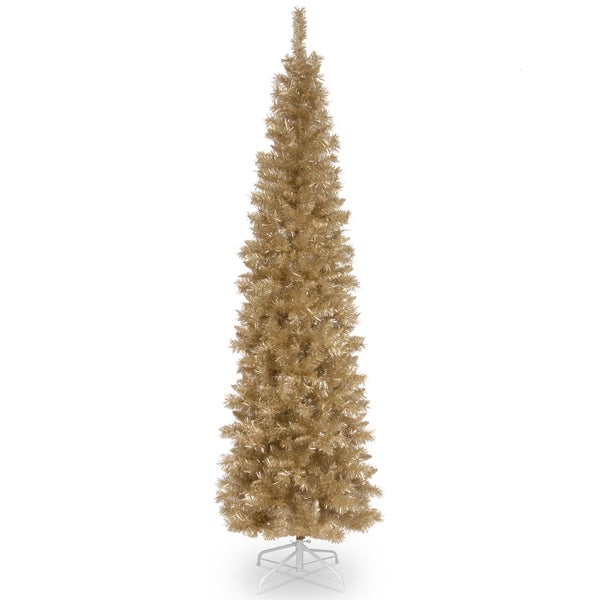 Shop Champagne Tinsel 6-foot Tree