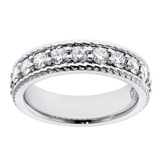 Platinum 1ct TDW Prong-set Diamond Anniversary Wedding Band (G-H, SI1-SI2)