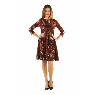 24/7 Comfort Apparel Women's Dazzling Floral Midi Dress