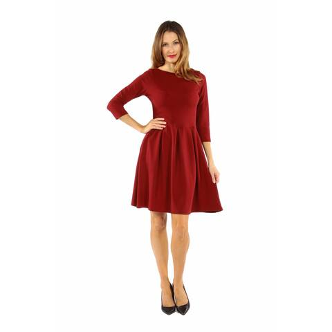 24/7 Comfort Apparel Women's Classic Little Black Dress