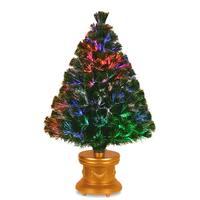 Fiber Optic Fireworks 36-inch Evergreen Tree
