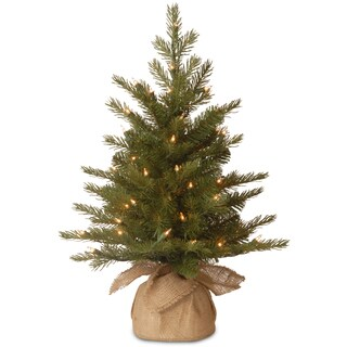 Nordic Spruce 2-foot Artificial Tree With Clear Lights